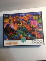 Buffalo Games 2000 Piece Jigsaw Puzzle - Viva Las Vegas Nightime Skyline -1 Piec - $8.56