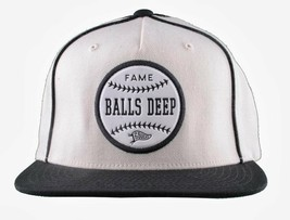 Hall Of Fame Balls Deep Baseball Cap Snapback Wool Blend HOF Embroidered Hat image 1