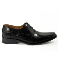 Mens Hand Made Dragon Skin Luxury Formal Black Leather Shoes image 2