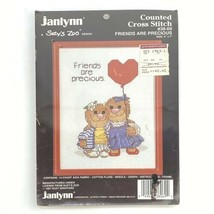 80s Suzy Zoo Friends Are Precious Counted Cross Stitch Kit w/ Frame - $8.86