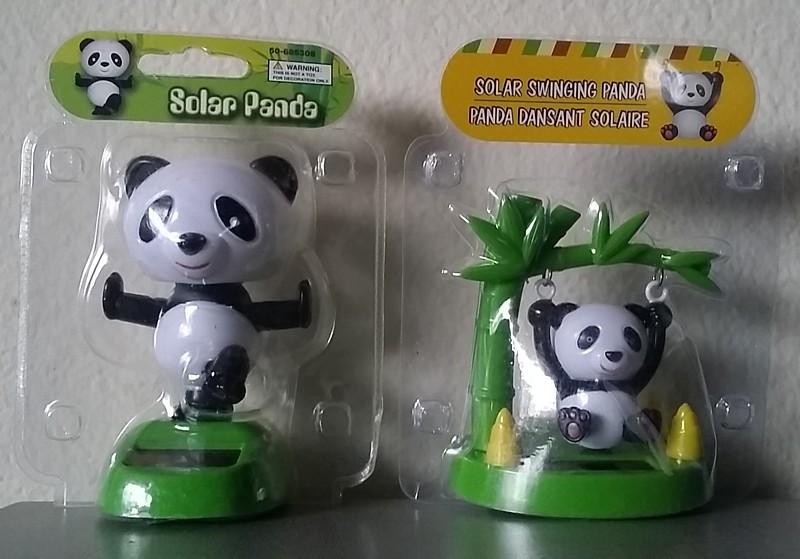 Solar Powered Dancing Panda Bear  Swing On A Tree