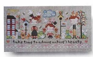 Natures Beauty Ornament cross stitch chart Barbara Ana Designs