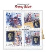 SIERRA LEONE 2015 STAMP ON STAMP PENNY BLACK 175TH ANNIV 1ST STAMP S1149... - £5.87 GBP