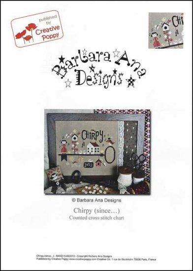 Chirpy (since....) cross stitch chart Barbara Ana Designs