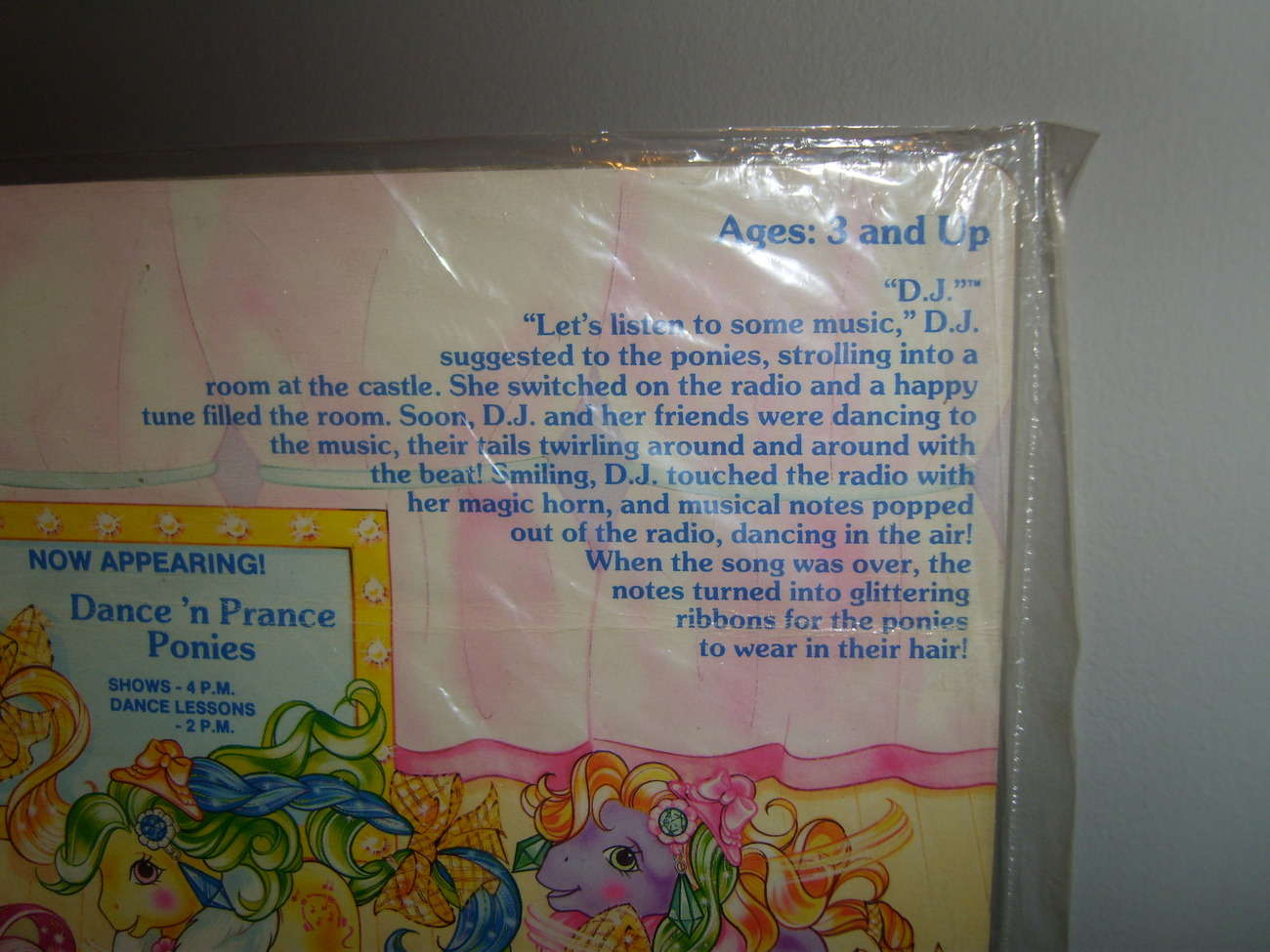My Little Pony G1 back card Dance N Prance DJ