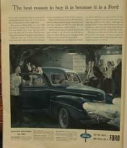 Vintage 1941 Magazine Print Ad  FORD CAR - $7.70