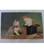 Antique / Vintage Unposted Art Postcard - Kittens, Top Hat, Cane and Gloves - €8,88 EUR