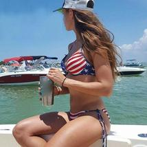 Women US Flag Printed Bikini Set - $32.00