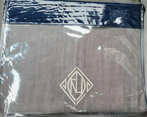NWT Ralph Lauren Penthouse Charcoal Gray Aldrich 54x72 Throw Blanket Linen Thin - $96.74