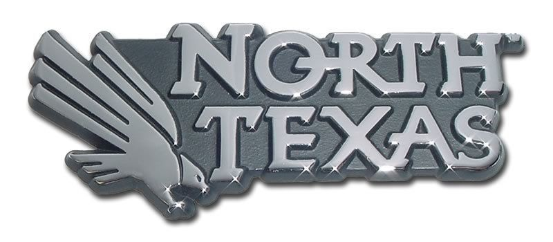 Primary image for university of north texas mean green shiny chrome logo auto emblem usa made