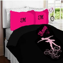 Ballet Monogram Duvet Bedding - Personalized - TWIN size image 2