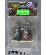 Halloween Lemax Spooky Town Village Tombstones Accessory Coffin Skeleton... - $3.99