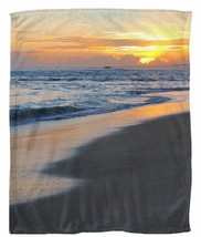 Throw blanket Fleece blanket USA Seascape Photo 19 ocean sea sunset by L... - $64.99