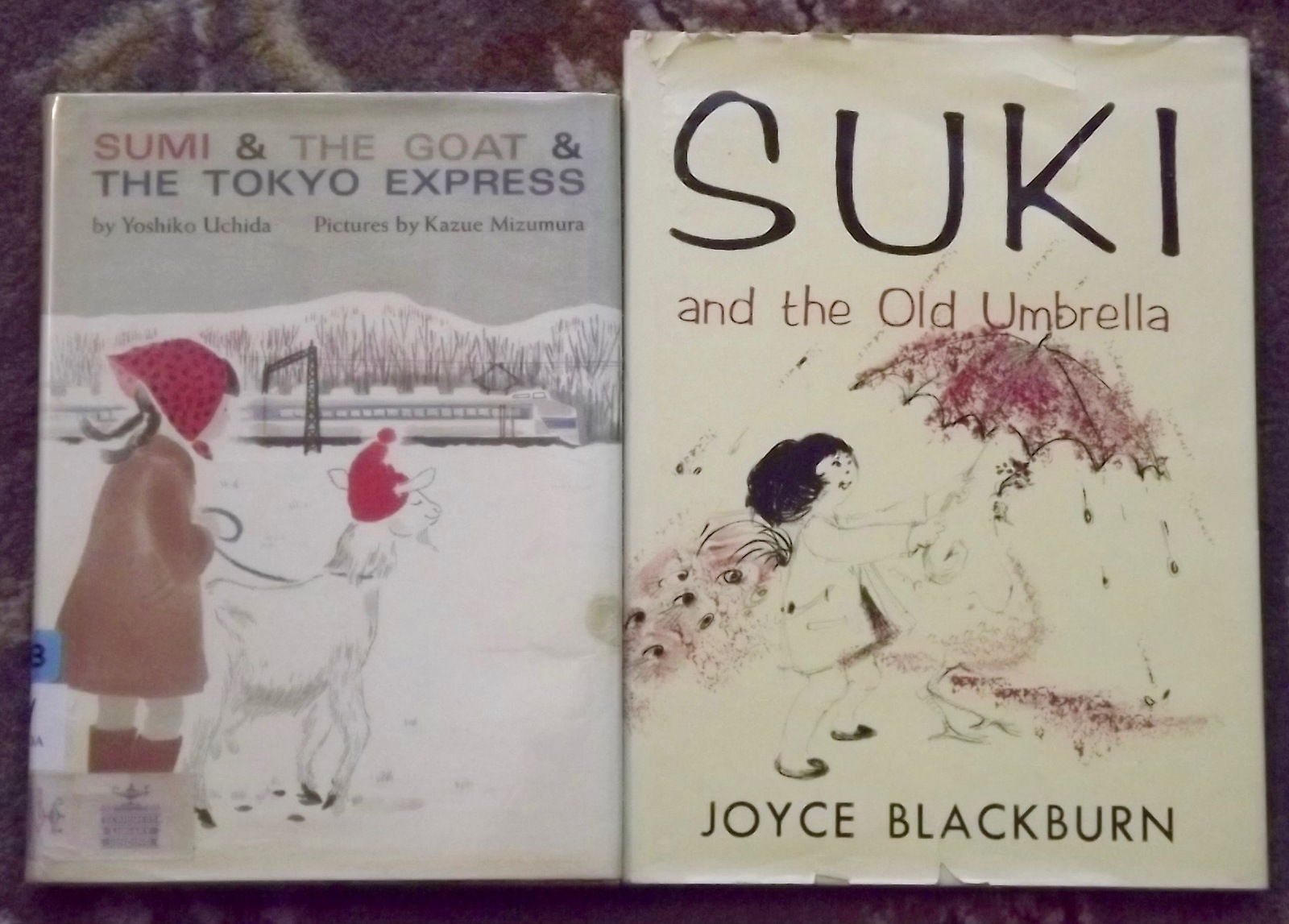 2 books Sumi & The Goat & The Tokyo Express, Suki and the Old Umbrella