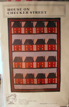 "Quilt Pattern ""House on Checker Street"" 47"" x 67"" - $7.00"