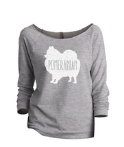 Thread Tank Pomeranian Dog Silhouette Women's Slouchy 3/4 Sleeves Raglan Sweatsh - $24.99+