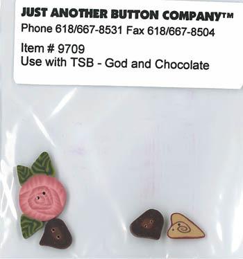 God and Chocolate cross stitch chart The Stitching Bear