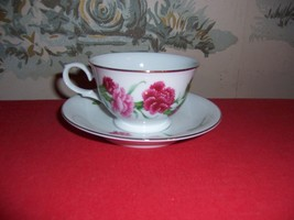 1991 AVON Collectible Cup& Saucer Set-Blossoms of the Month-January, Car... - $18.81