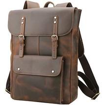 Polare Vintage Full Grain Leather College Bag School Bookbag Backpack Tr... - $307.27 CAD