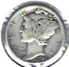 Nice 1940 P Mercury Dime - $4.00