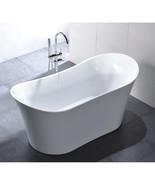 Vanity Art White Acrylic 67-Inch Freestanding Soaking Bathtub - VA6805 - $806.55