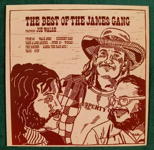 THE BEST of THE JAMES GANG ~ Featuring Joe Walsh   1973 Rock LP