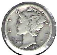 Nice 1943  S Mercury Dime - $4.00