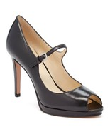 Nine West Women's Emergencee Peep Toe Black Leather Pump Size 9.5 - €31,45 EUR