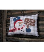Red White and Blue Snowman LIMITED EDITION KIT cross stitch kit Thistles - $20.00