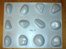 #OOR-05 River Rock Molds 12 Make 100s of Cement Stones For Walls For Pennies Ea. image 11