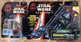 Star Wars Episode 1 Electronic COMMTECH READER + YODA Action Figure New ... - $16.83