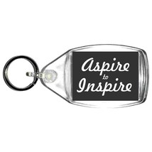 keyring double sided aspire to inspire design, keychain