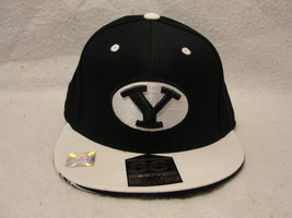 BYU Cougars blue and white cap size 6 7/8-7 1/4 Name on bottom of brim V... - $9.45