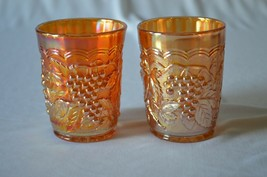 2 Imperial Carnival Glass #473 Marigold ( Rubigold)Tumblers - $14.85