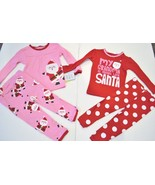 Carter's Just One You Toddler Girls Santa Claus 4 Piece Pajama Set Size ... - $14.99