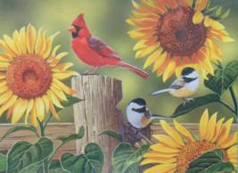 PUZZLE..JIGSAW..VANDERDASSON...Sunflower And Songbirds...300 Piece.. Sealed - $14.99