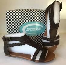 NEW Soda Laicigo Gladiator BROWN Sandals - US Size 7 - Braided Open Toe ... - $23.70
