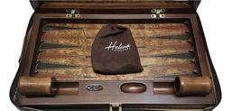 """Luxury Helena Wood Art Handmade Genius Backgammon Set w/ Case Large 23"""" x 15"""" image 4"""
