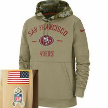 2020 Men Women Kids San Francisco Tan Sweatshirt 49er 2019 Salute to Ser... - $85.00