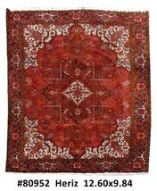 Persian Carpet Handmade 10' x 13' Heriz Estate Luxury Rug - $2,980.80