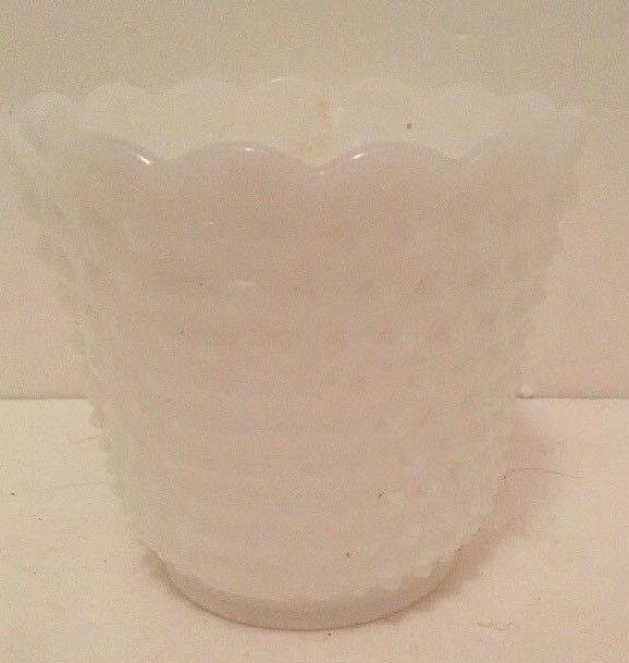 Fire King Hobnail Milk Glass Vase Bowl And 50 Similar Items