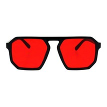 Black Square Heptagon Shape Sunglasses Retro Futuristic Shades UV400 Col... - $9.85