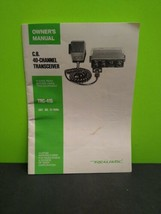 Vintage Realistic C.B. 40-Channel Transceiver TRC-418 Owner's Manual Rad... - $9.80