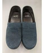 Dansko Mavis Clog Navy Blue Nubuck Women's Shoe size 39 - $49.95