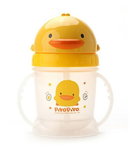 Yellow Duck Infant Sippy Cups Baby Sippy Cup Children Learning Drink Cup