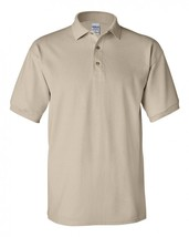 Gildan Ultra Cotton Pique Knit Sportshirt 3800 Sand S/S Polo Shirt Unisex New - $19.37