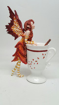 Amy Brown Apple Cider Cinnamon Faery Fantasy Art Statue Tea Cup Autumn F... - $26.50