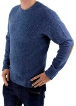 Levi's Men's Wool Pullover Crew Neck Elbow Patch Sweater New w/Defect S image 2