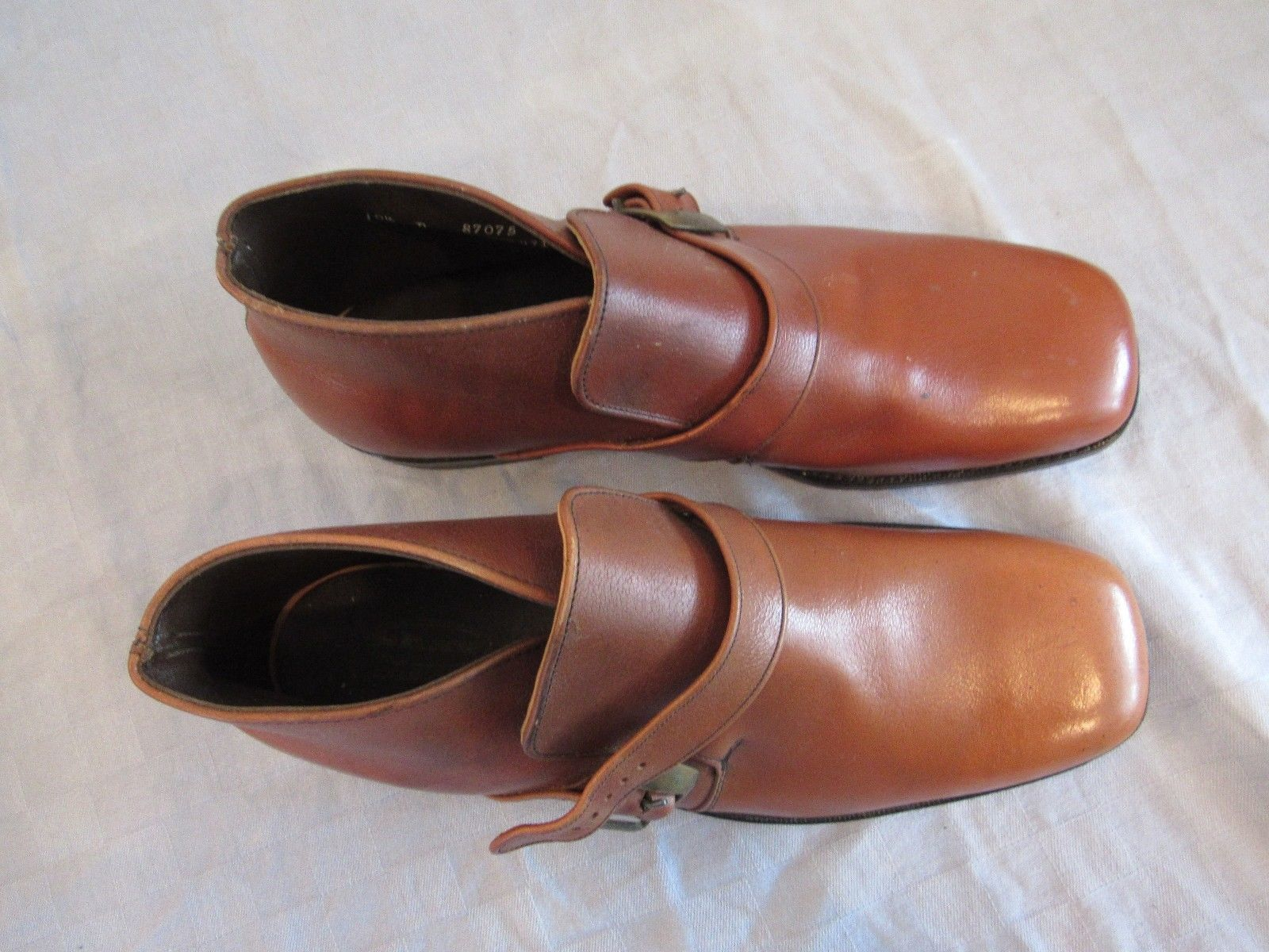 Vintage Shaw Brown Leather Demi Boots Shoes 10.5 D