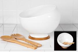 Porcelain Bamboo Combination Oblique Salad Bowl / Serving Bowl Set - $24.18
